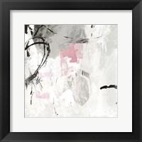 Framed Gray Pink I