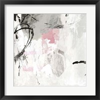 Framed Gray Pink I