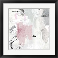 Framed Gray Pink II