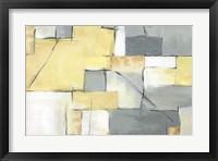 Framed Golden Abstract III