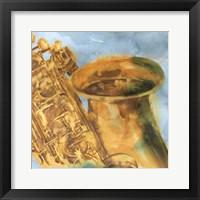 Framed Musical Sax