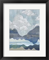 Framed Cloudy Mountains I