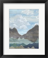Framed Cloudy Mountains II
