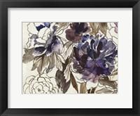 Framed Plum Floral III