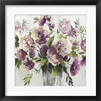 Framed Purple Bouquet