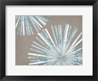 Framed Dandelion Blue I