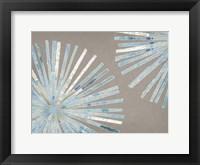 Framed Dandelion Blue II