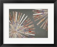 Framed Dandelion Warm II