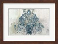 Framed Blue Chandelier