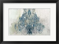Framed Blue Chandelier