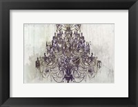 Framed Plum Chandelier on White