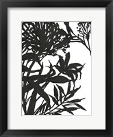 Framed Monochrome Foliage I