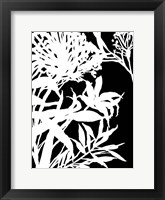 Framed Monochrome Foliage III