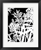 Framed Monochrome Foliage IV