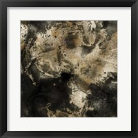 Framed Gold Marbled Abstract I