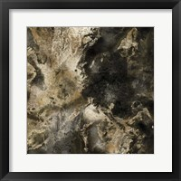 Framed Gold Marbled Abstract III