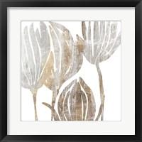 Framed Marble Foliage III