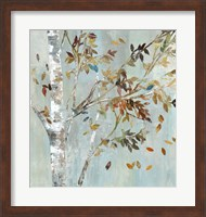 Framed Birch with Leaves I