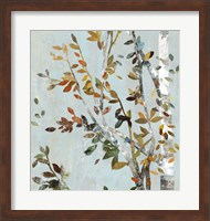 Framed Birch with Leaves II