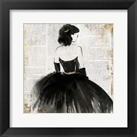 Framed Lady in Black Dress