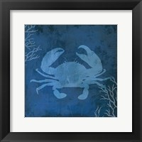Framed Navy Sea Crab