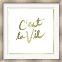 Framed C'est La Vie Border