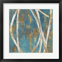 Framed Teal Abstract I