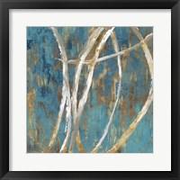 Framed Teal Abstract II