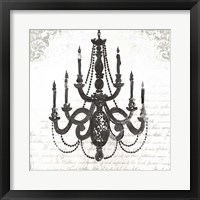 Framed Black Chandelier I