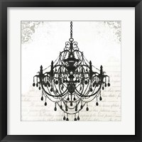 Framed Black Chandelier II