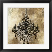 Framed Chandelier Gold I