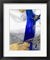 Framed Indigo Abstract IV