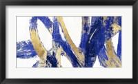 Framed Indigo Abstract V