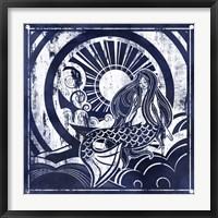 Framed Ink Dip Mermaid