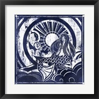 Framed Ink Dip Mermaid
