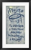 Framed Mojito Blue