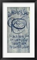 Framed Whiskey Sour Blue
