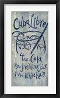 Framed Cuba Libre Blue