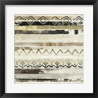 Framed African Patchwork I