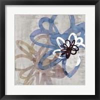 Framed Scribbled Floral II