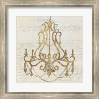 Framed Golden Chandelier I