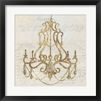 Framed Golden Chandelier I