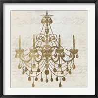 Framed Golden Chandelier II
