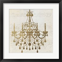 Framed Golden Chandelier II