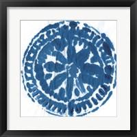 Indigo Dye VI Framed Print
