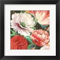 Framed Lavish Blooms I