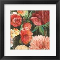 Framed Lavish Blooms II