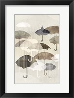 Framed Umbrella Rain I