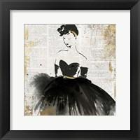 Framed Lady in Black I