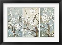 Framed Triptych in Bloom